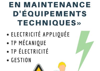 « COMPLEMENT EN MAINTENANCE D'EQUIPEMENTS TECHNIQUES»