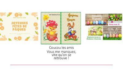 Cartes de Pâques de vos enseignants
